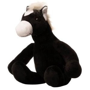 En heste bamse set fra siden