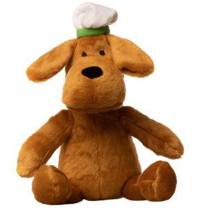 En hunde bamse med hat