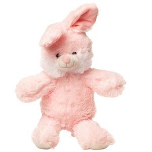 En lyserød kanin bamse