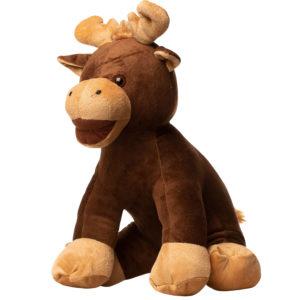 En elg bamse set fra siden