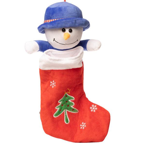En julesok med snemand