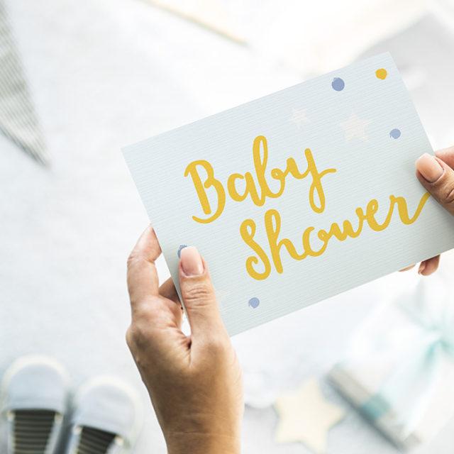 baby shower kort