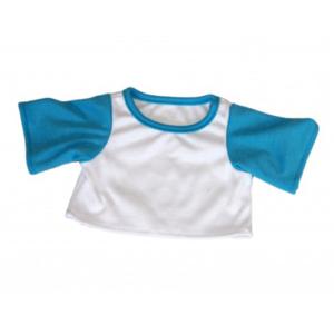 Lyseblå & hvid t-shirt