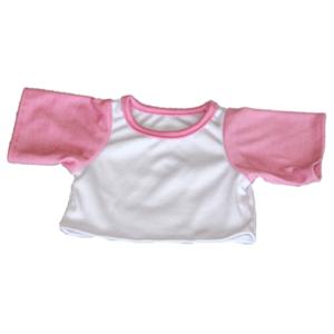 Lyserød & hvid t-shirt